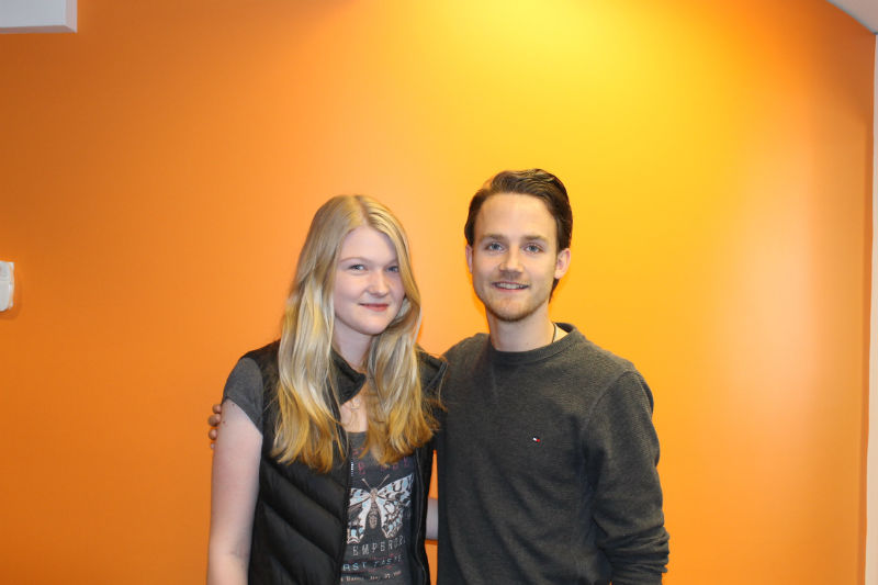 Annkathrin and intern Loris is studying English in Canada